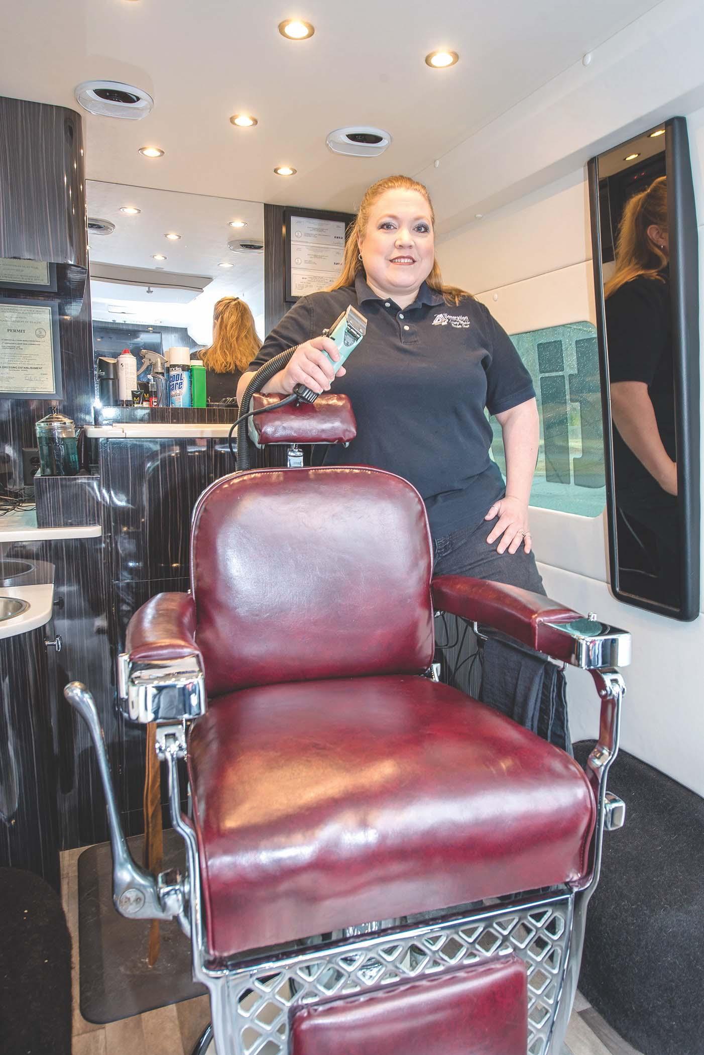 4th generation luxury mobile barber shop covabiz magazine. Black Bedroom Furniture Sets. Home Design Ideas