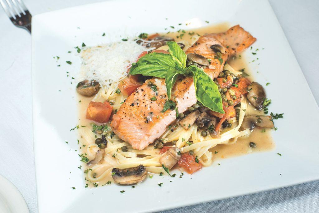 Al Fresco Italian Restaurant Salmon Picatta