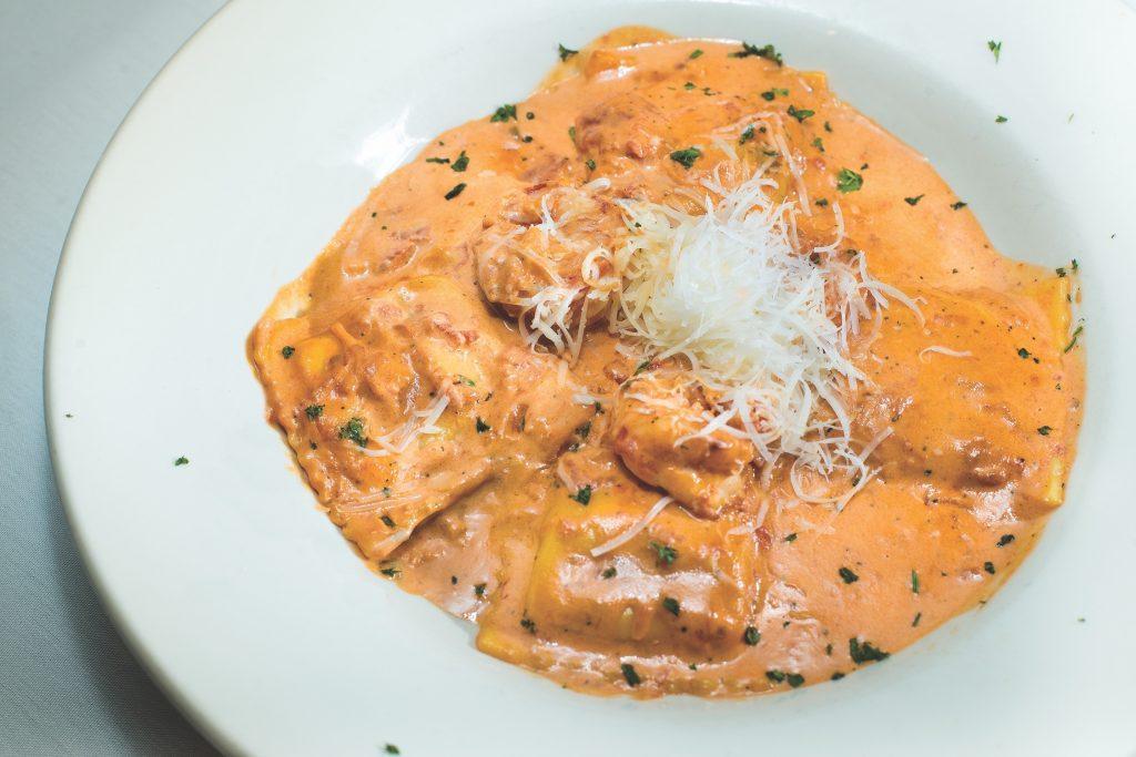 Al Fresco Italian Restaurant Creamy Lobster Ravioli
