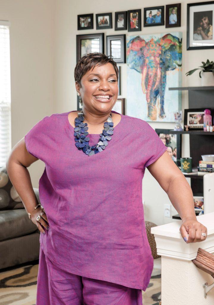 Foodbank CEO Ruth Jones Nichols At Home Art