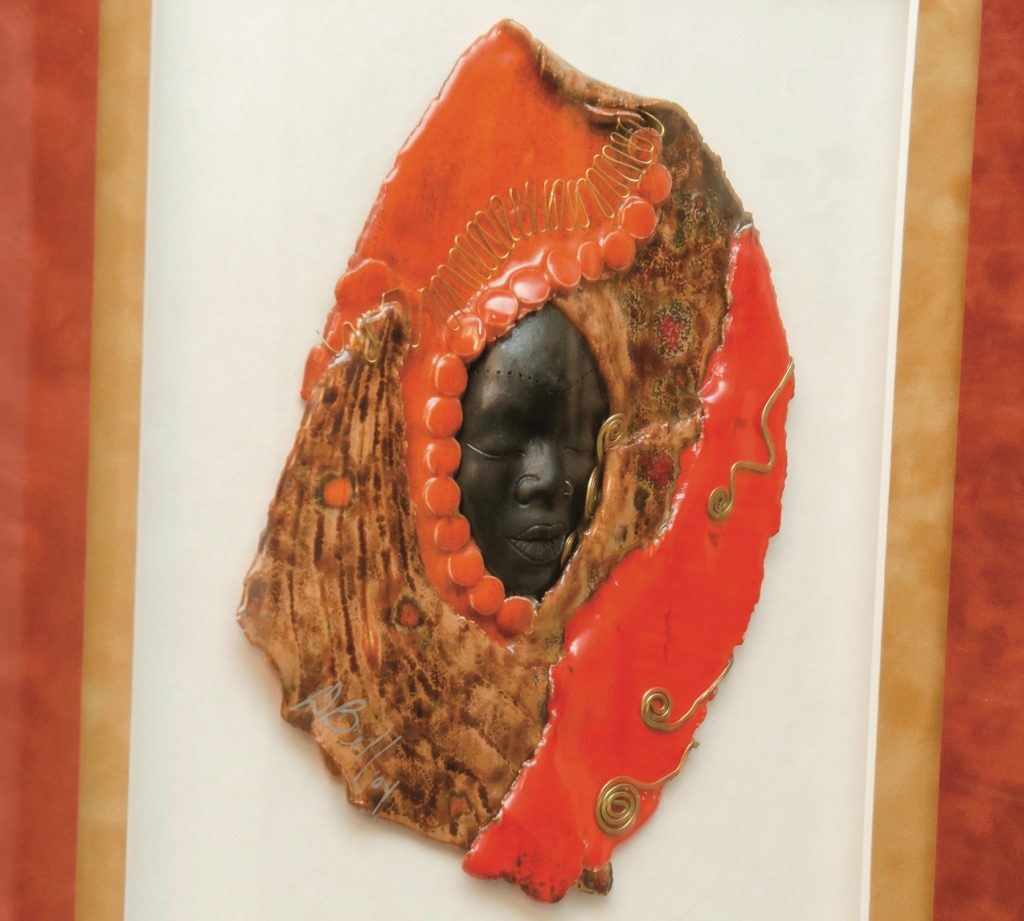 Foodbank CEO Ruth Jones Nichols At Home Art womanhood mask Deirdre Bell
