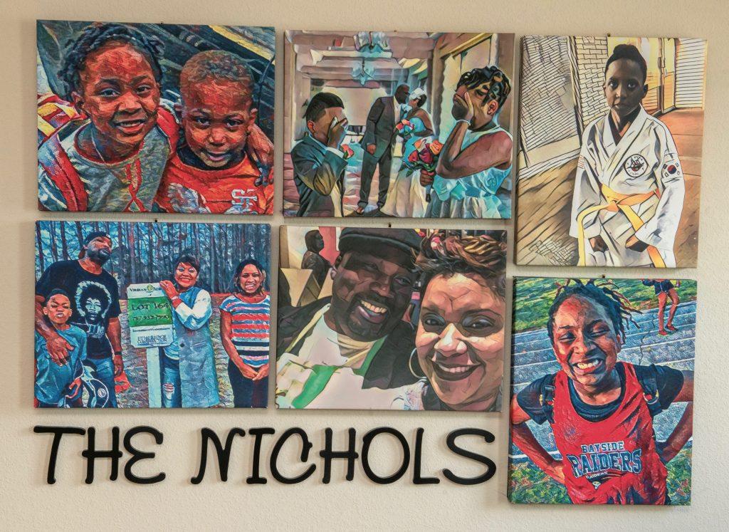 Foodbank CEO Ruth Jones Nichols Family Art Canvas