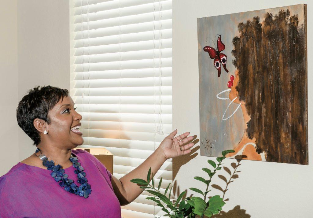 Foodbank CEO Ruth Jones Nichols At Home Art Yvette Crocker Painting