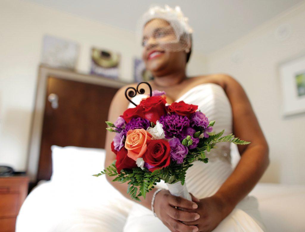 Foodbank CEO Ruth Jones Nichols Wedding Bride At Home