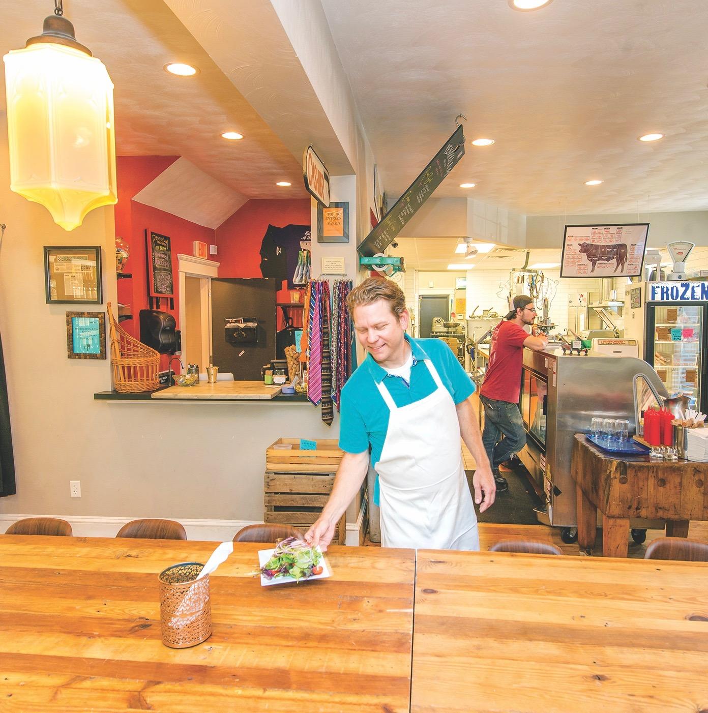 Dining area, lunch, Pendulum Fine Meats Norfolk