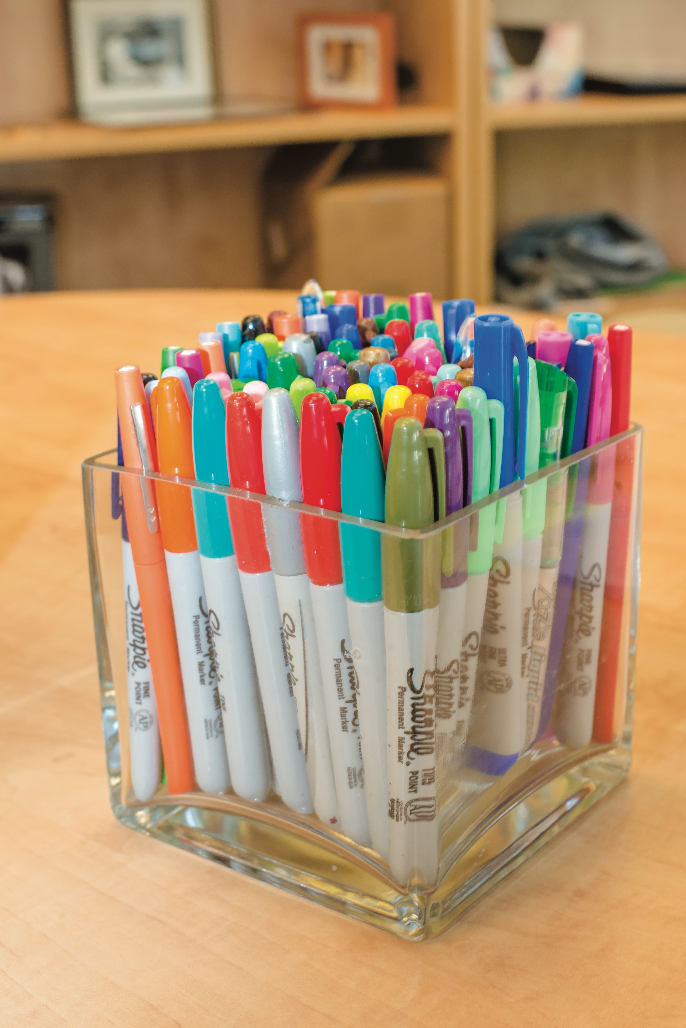 Colorful writing utensils