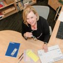 """""""HearSay"""" Host Cathy Lewis Keeps Things Organized On Her Desk"""