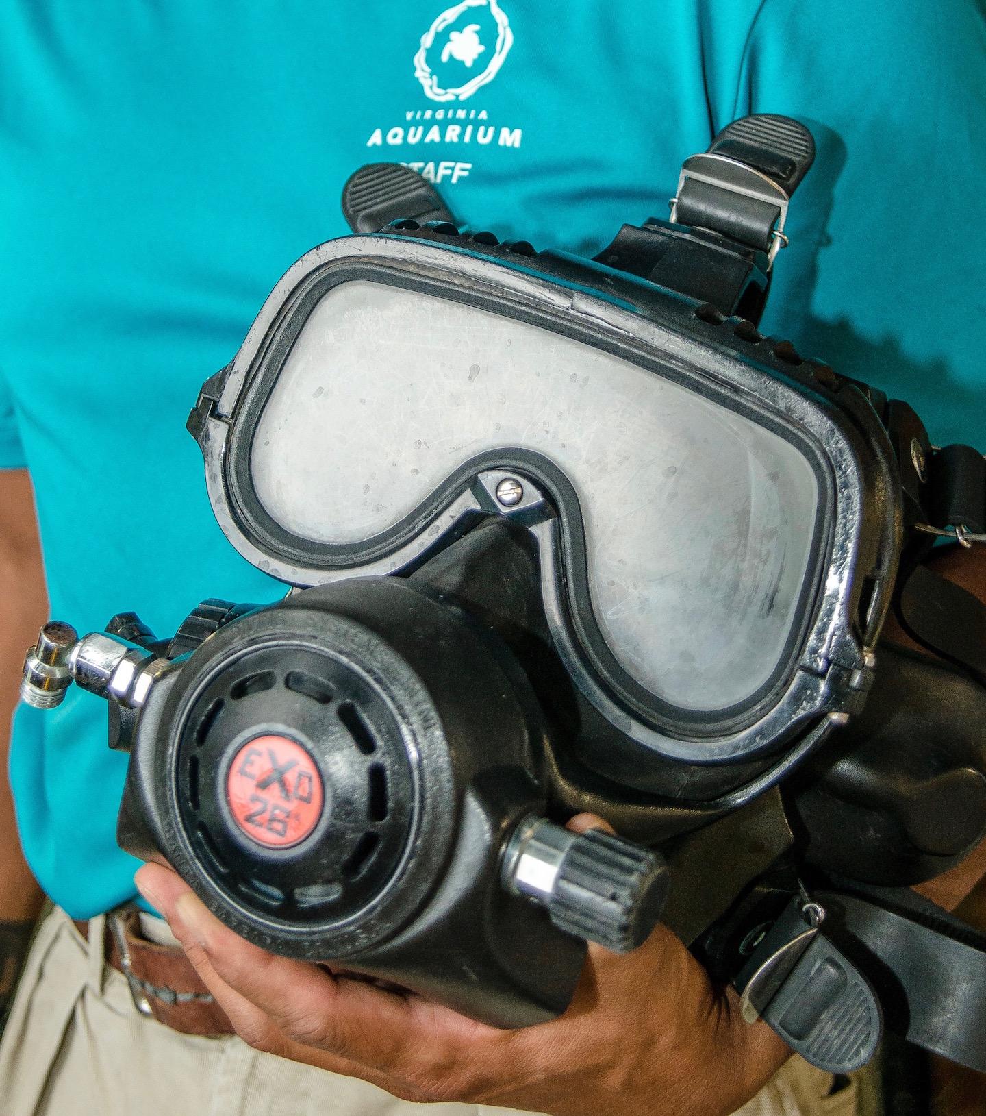 Kirby Morgan Face Mask, Virginia Aquarium Diving