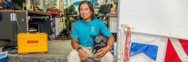 Virginia Aquarium Dive Safety Officer Sonny Alejo's Eclectic Desk