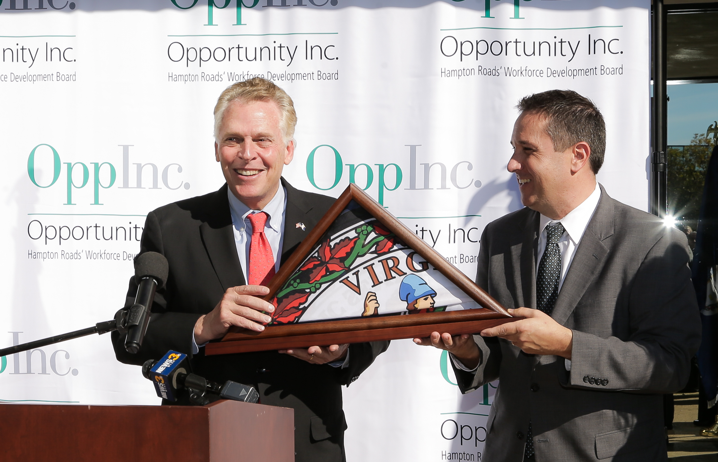Gov. Terry McAuliffe, Opportunity Inc.