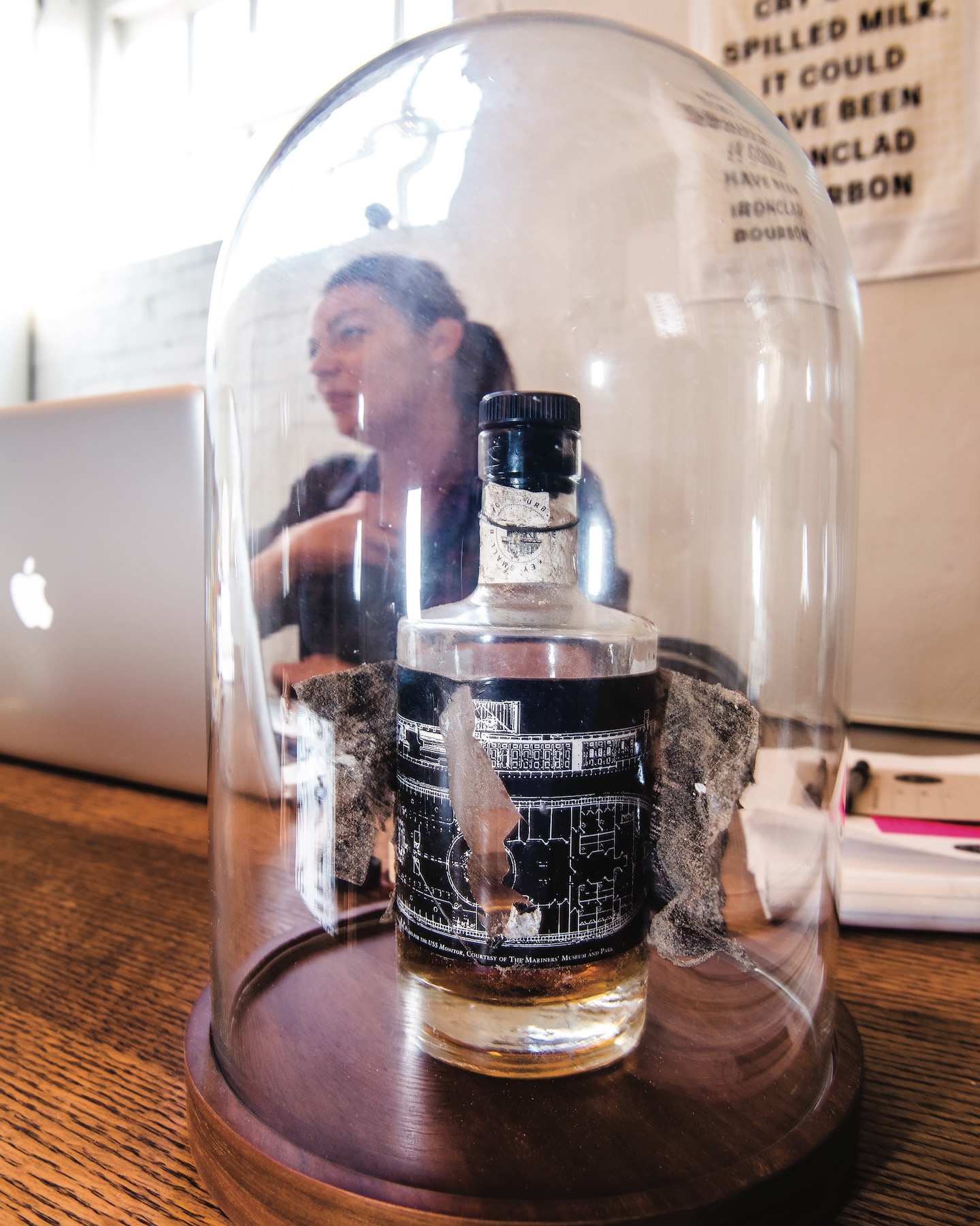 Desk, Ironclad Distillery Co., Bell Jar Bourbon