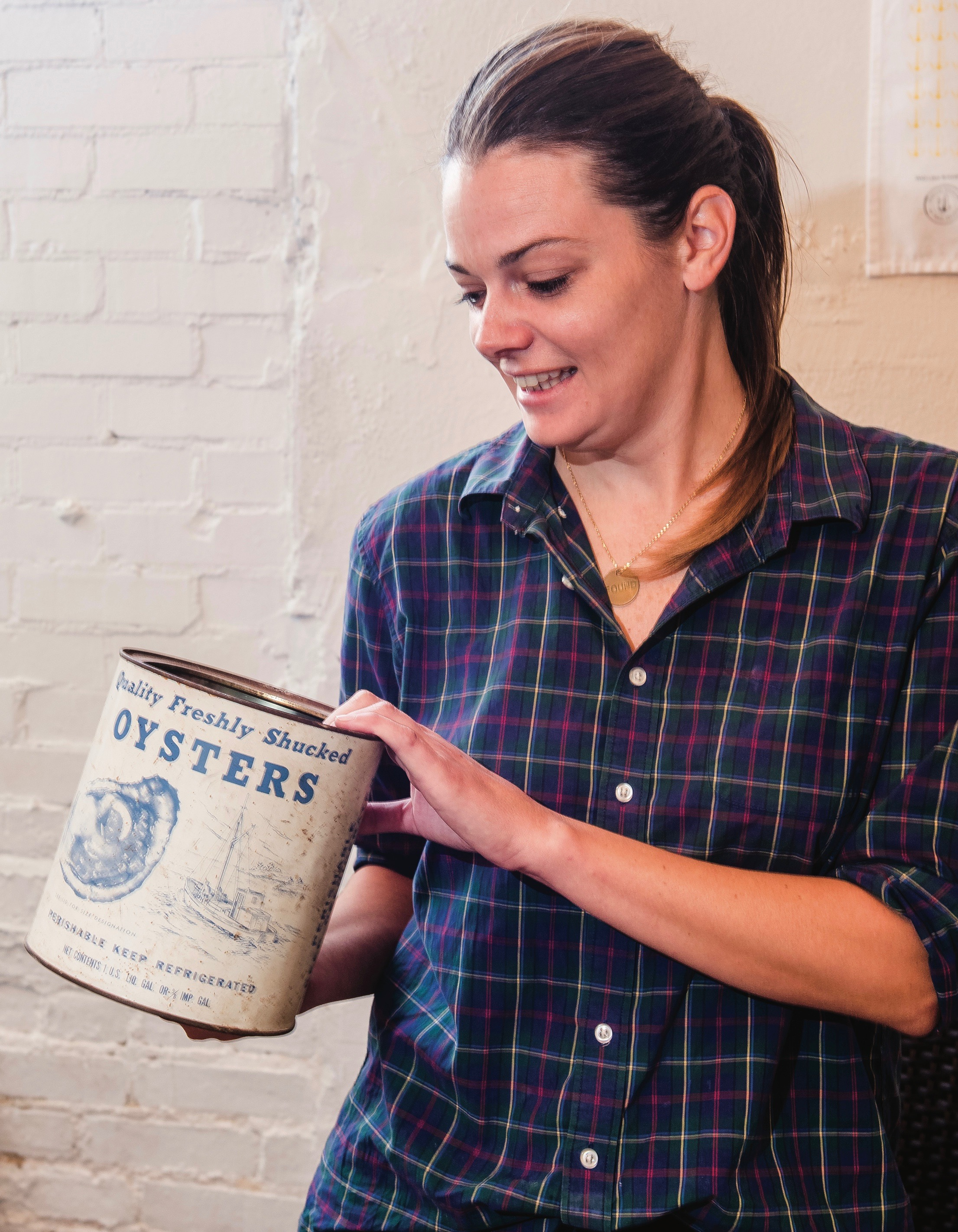 Kara King, Ironclad Distillery, Newport News, Oyster Tin