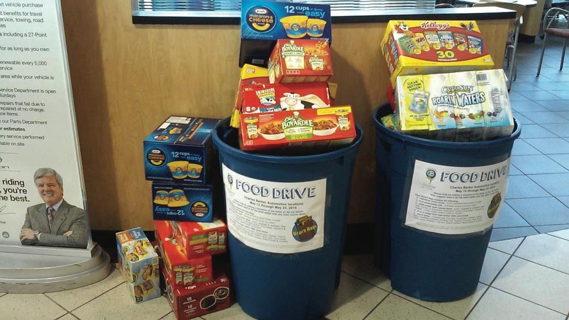 Charles Barker making a community impact, donations, food drive, Hampton Roads