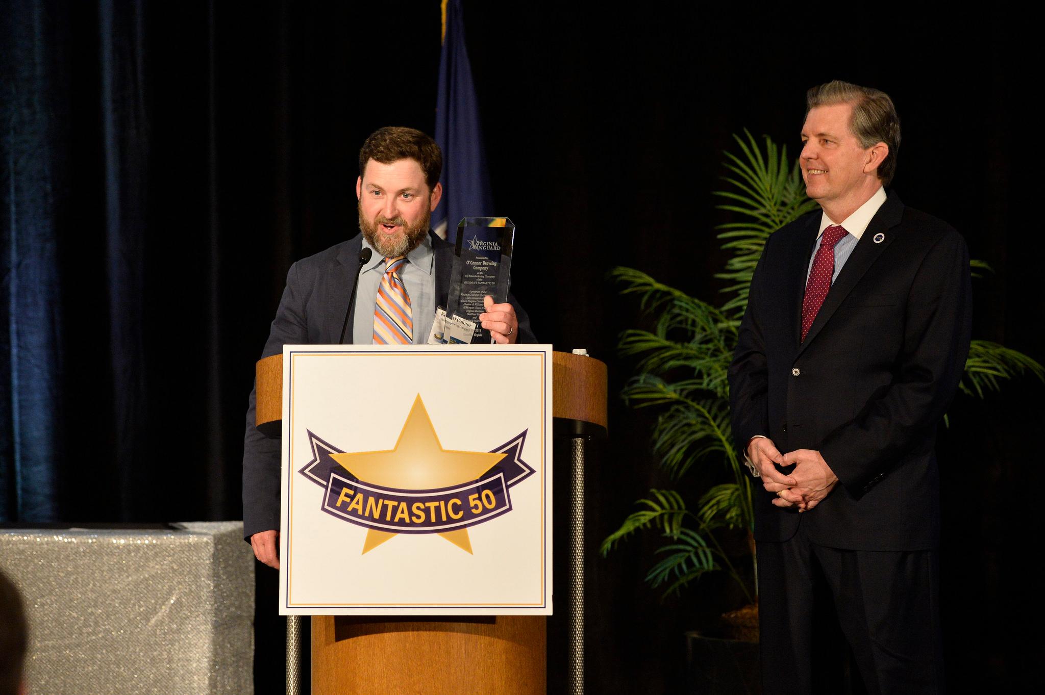 O'Connor Brewing Receives Virginia's Fantastic 50 Award