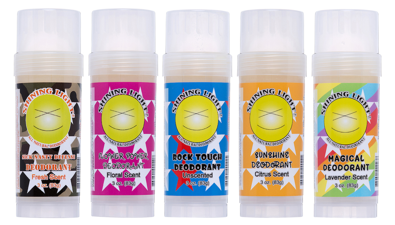 Shining Light All Natural Deodorant brand