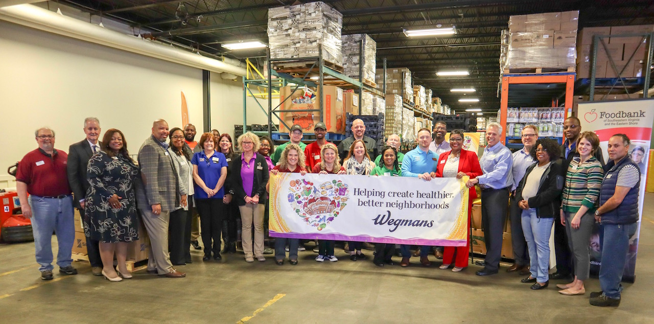 Wegmans Donates to Foodbank of Southeastern Virginia and the