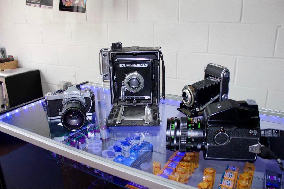 Analogue cameras at Analogue in Norfolk
