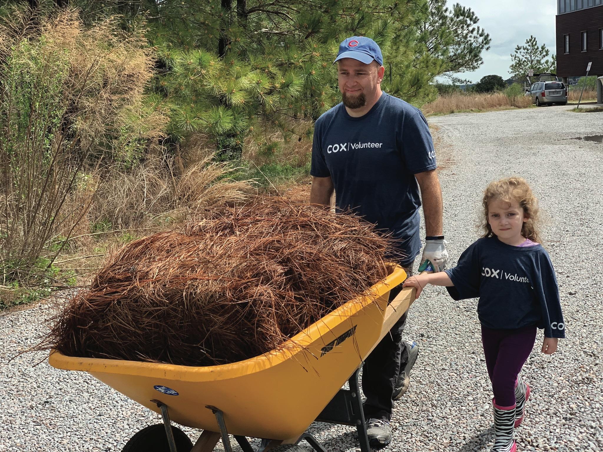 Cox employee volunteering